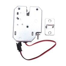 Электрический замок управления DC 12V 2A электромагнитный дверной замок шкаф ящик замок для шкафчиков защелка из углеродистой стали серебряный замочек