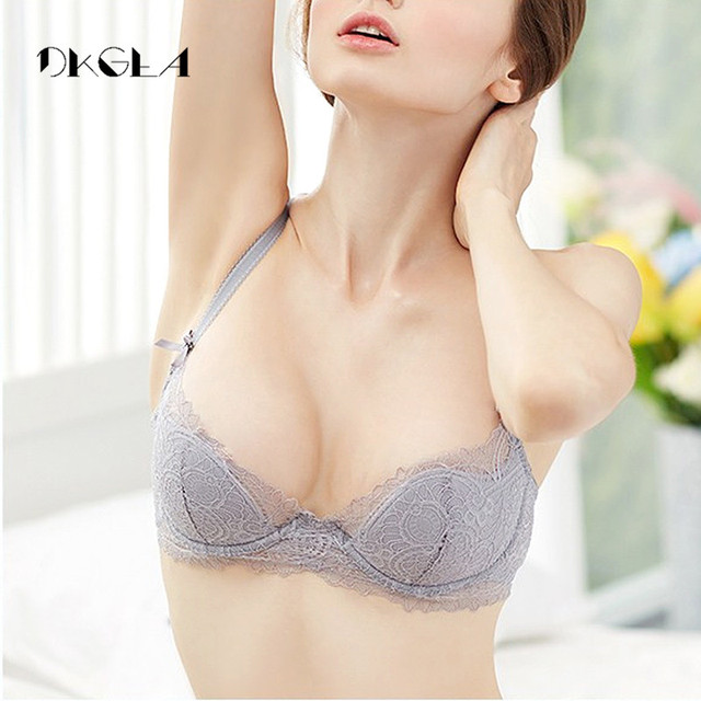 Fashion Young Girl Bra Plus Size D E Cup Thin Cotton Underwear Women Sexy Brassiere Pink Lace Lingerie Push Up Bras Embroidery 2