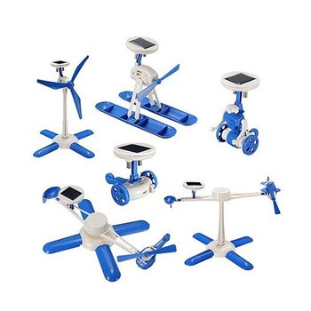 6 In 1 Solar Powered Robot Kit Children DIY Toy For Kids Birthday Gift Solar Educational Toys Car Boat Fan Model solar powered boat no 3 kit diy ship model puzzle handmade material spare parts rc accessories for science education f19139
