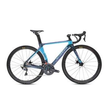 Bicicleta de carretera, nuevo freno de disco de 22 velocidades, cuadro de bicicleta de carbono, juego de horquilla SHIMANO ULTEGRA R8000, componentes, 2020