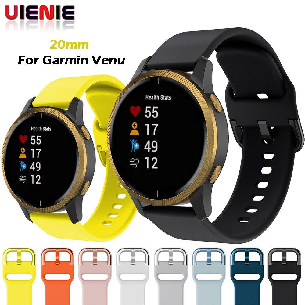 20mm 22mm Sport Smart Watch Band Silicone Bracelet For Garmin Venu Forerunner 645 245M Vivoactive 3 HR For Watch GT Wrist Strap