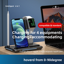 Fast Qi Standard Intelligent 4 in 1 Multi Mob Watch Earphone Apple Pen Charging Together Smart Wireless One-Stop Charge Dock