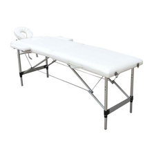PVC Leather 2 Sections Folding Portable SPA Bodybuilding Massage Table with Case Lightweight Foldable Beauty Bed Salon Furniture