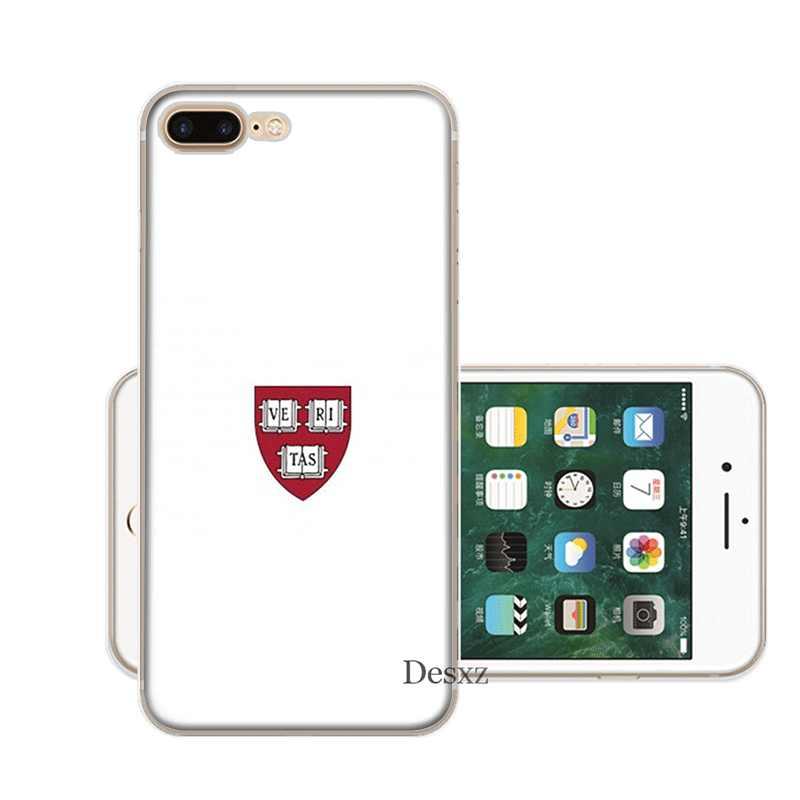 Điện Thoại di động dành cho iPhone 11 Pro X XR XS Max 5 5S SE 6 6S 7 8 plus Bao Đại Học Harvard Logo