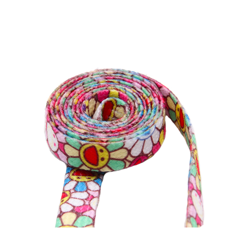 Weiou Laces Non Fading Fashion Shoelaces   Flat Polyester Shoe Laces Printed Lovely Sunflower Women Shoe Sport Fitness