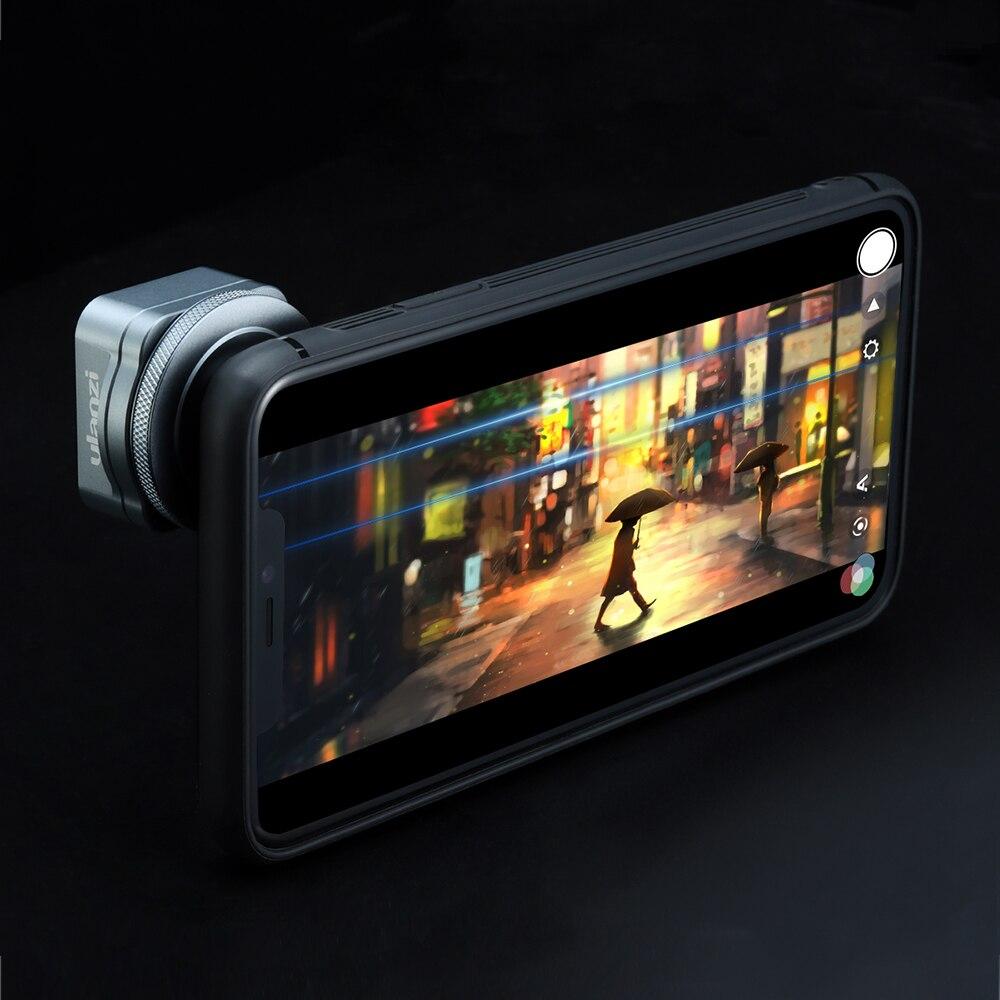 Lente anamórfica Ulanzi para iPhone 11 Pro 1.3x, pantalla ancha de vídeo, pantalla panorámica Slr, película Videomaker, lente Teléfono universal - 4