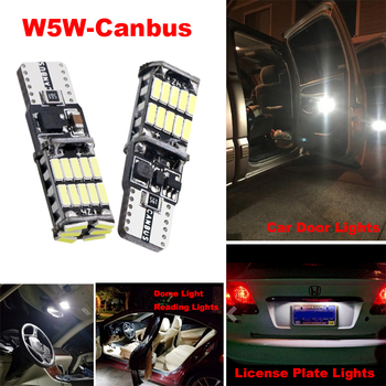 T10 Canbus Error free License Plate Light W5W 168 194 White Car Led Lamp Bulbs For Alfa Romeo 159 BMW E46 E39 E36 E90 Audi A3 A6 image