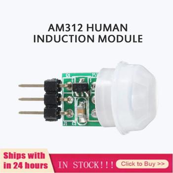 Nowy AM312 czujnik ruchu ciała PIR Mini moduł detektora piroelektrycznego na podczerwień AM312 czujniki ciała moduł detektora s moduł tanie i dobre opinie centechia CN (pochodzenie) Ready-to-go AM312 and HC-SR505 Wszystko kompatybilny