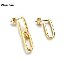 original design Gold hoop earrings copper asymmetrical earrings gold female models hot earrings gold hoop earrings glitter design hoop earrings