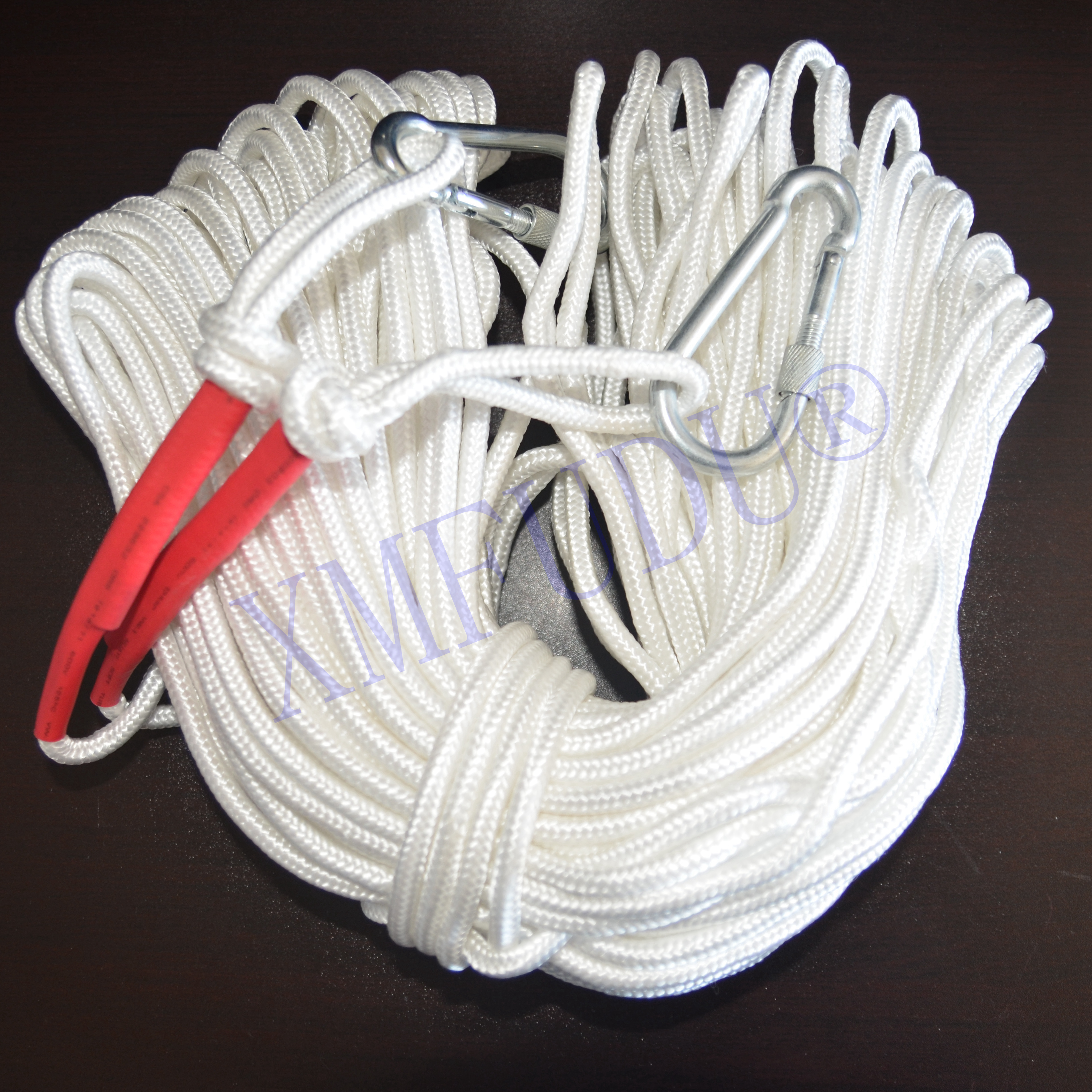 50m High Strength White Dia 6mm,8mm Braided Nylon Anchor Rope/ Outdoor Rock Climbing Rope Line For Kayak/canoes/boats