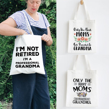 World's Best Grandma Canvas Tote Shopping Bag Shoulder Shopper Bags Lady Handbag Large New Gift - discount item  30% OFF Special Purpose Bags