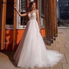 Волшебная ость элегантный принцесса свадебные платья Кружева