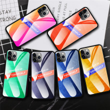 Case For iPhone 11 Pro Gradient Tempered Glass Phone for Max iPhone-11-Pro-Max iPhone11 Cover