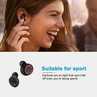 Auricolari Wireless Bluetooth resistente al sudore In Ear Mic cuffie Stereo pompaggio cuffie basse per allenamento sportivo cuffie da palestra