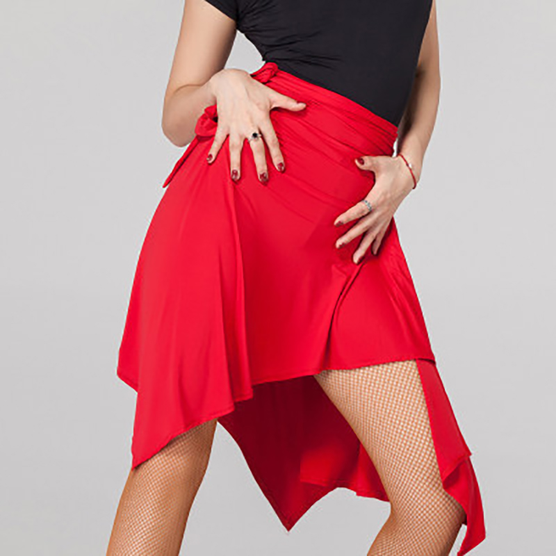 Lady Latin Dance Skirt For Sale Red/Black/Leopard Cha Cha/Rumba/Samba/Tango Dresses For Dancing Practice/Performamnce Dancewear
