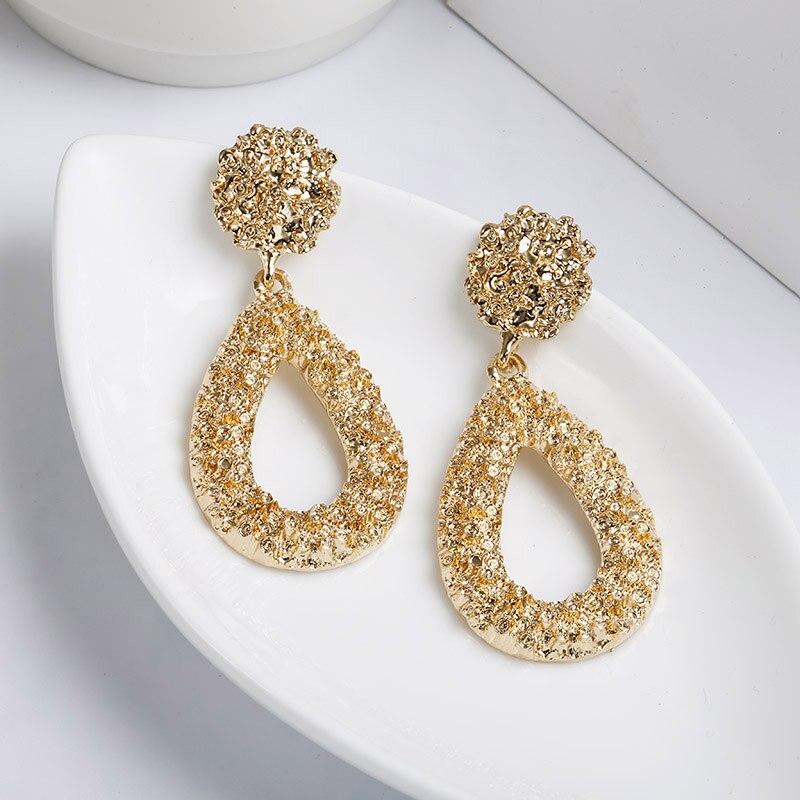 CARTER LISA New Fashion Statement Earrings For Women Big Waterdrop Hanging Dangle Earrings Drop Earring Modern Jewelry