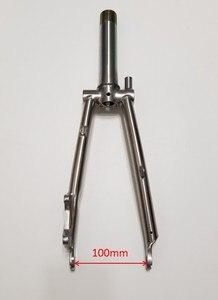 Image 4 - Titanio Triangolo Posteriore fit Brompton bici 135 millimetri di larghezza e forcella anteriore per rottura del disco di larghezza 100 millimetri