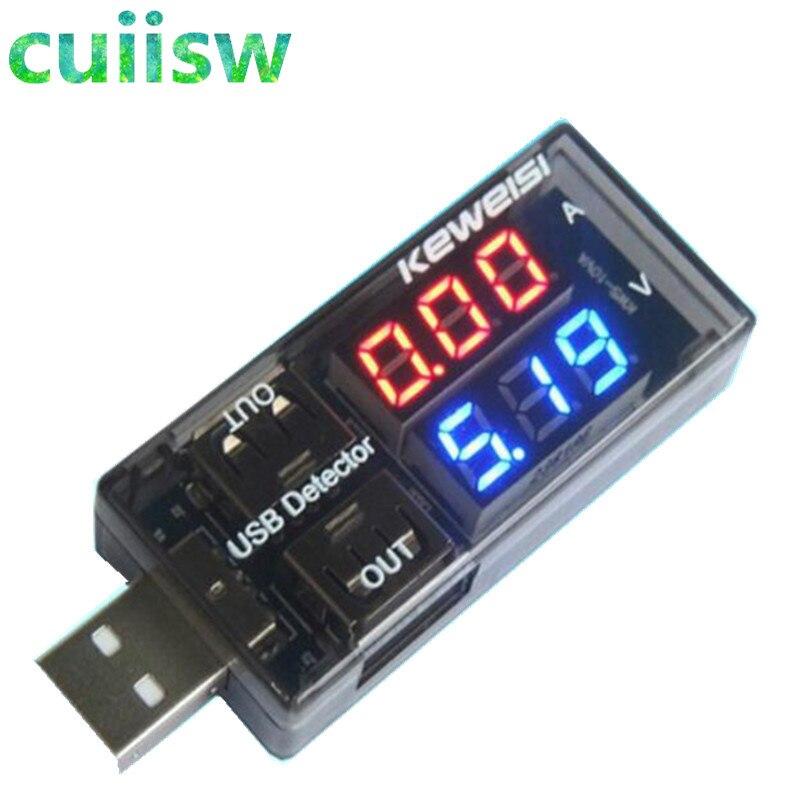 Detector de carga de voltaje real USB Dual, rojo + azul, voltímetro de batería, cargador amperímetro, Doctor