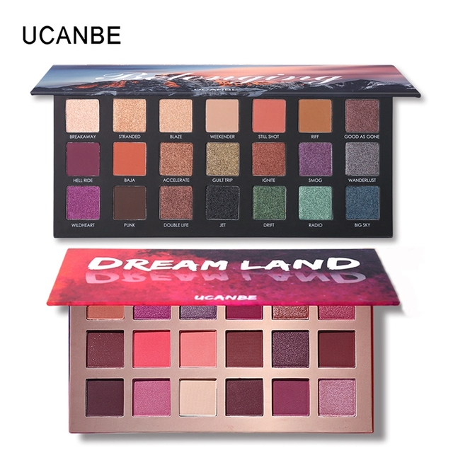 UCANBE Brand New Nude Eyeshadow Palette 18 Colors Glitter Matte Shimmer Shades Rosy Pink Eye Shadow Waterproof Beauty Makeup Kit 5