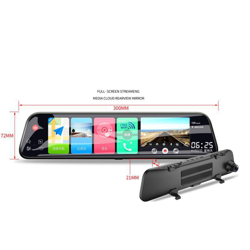 12 Inch Android 8.1 Adas Dash Cam Car Dvrs Camera Gps Navi Bluetooth Fhd Video Recorder 4G Wifi Dvr Mirror - 5