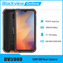 Blackview BV5900 Rugged Phone 3GB+32GB 5580mAh IP68 Waterproof Mobile Phone 5.7 inch NFC 4G Cellphone