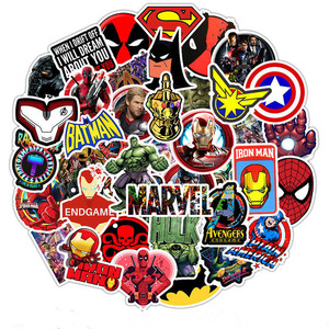 50PCS Marvel The Avengers Super Hero Stickers pattern Sticker For Skateboard Guitar Luggage Motorcycle Car Phone Laptop Sticker(China)