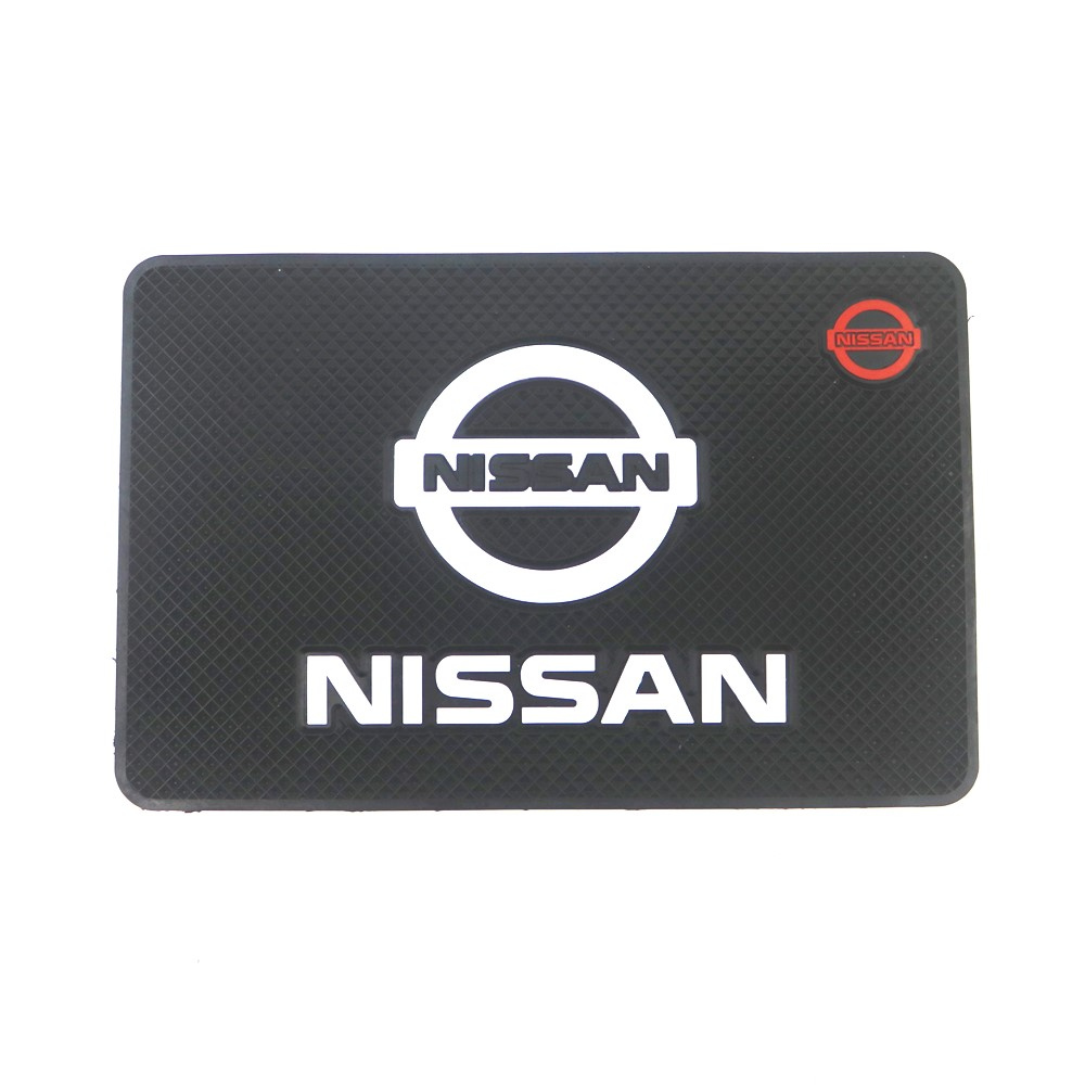 Car Logo Anti Slip Mat Phone Holder Non-Slip Mat Non Slip Pad For Nissan Nismo Tiida Teana Skyline Juke X-Trail Almera
