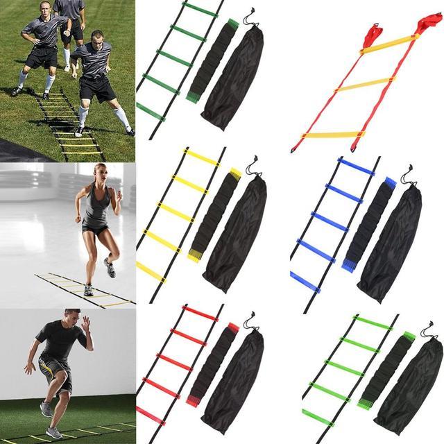 4/6/7/9/12/14 Rung Nylon Straps Agility Training Ladders Fitness Equipment 1