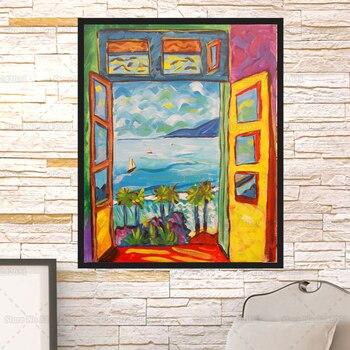 Matisse, pintura famosa, ventana abierta en colirio, lienzo de pintura, carteles de Enrique Matisse, decoración de arte de la pared