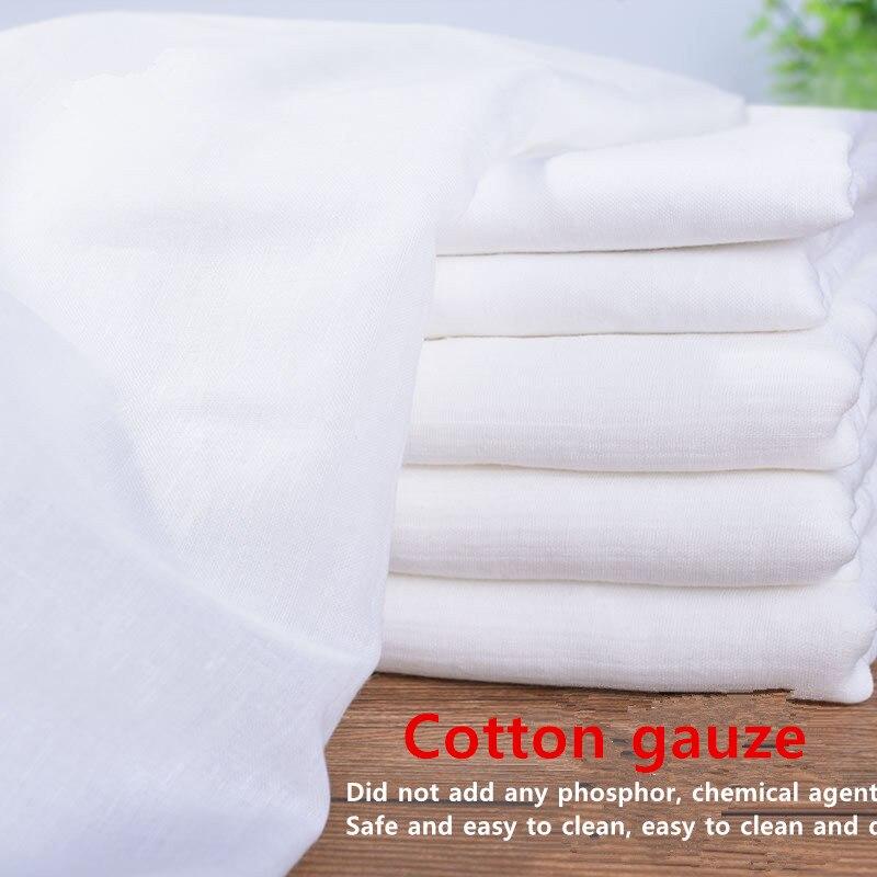 100cm * 145cm puro algodão branco gaze pano bebê saliva toalha fralda tecido de algodão produto comestível, médico atacade100 % algodão diy