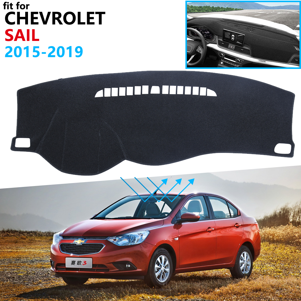 Dashboard Cover Protective Pad For Chevrolet Sail 2015 2016 2017 2018 2019 Car Accessories Dash Board Sunshade New Nueva Sail 3