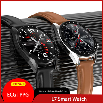 L7 Smart Watch Support Phone Call Dialer GPS ECG/PPG Heart Rate Measure Smartwatch Waterproof Ip68 Watch Men Women Android IOS цена 2017