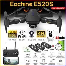 Eachine-Dron plegable con cámara profesional de gran angular, cuadricóptero con WIFI, FPV, 4K, 1080P, HD, E520, E520S