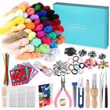 LMDZ 356Pcs Needle Felting Kit, with 40 Colors Wool Roving, Felting Needles, Felting Mat, Instruction and Other Supplies for DIY