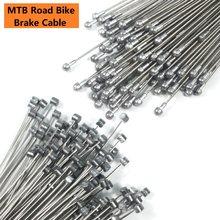 5 pçs cabos de freio de bicicleta montanha estrada freio de bicicleta interior cabo de freio dianteiro traseiro cabo de aço inoxidável fio de cabo