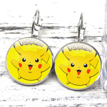 HOT! New Creative Art Cartoon Crystal Cabochon Earrings Cute Pet Elf To Pikachu Pierced Female Girl Fashion Jewelry
