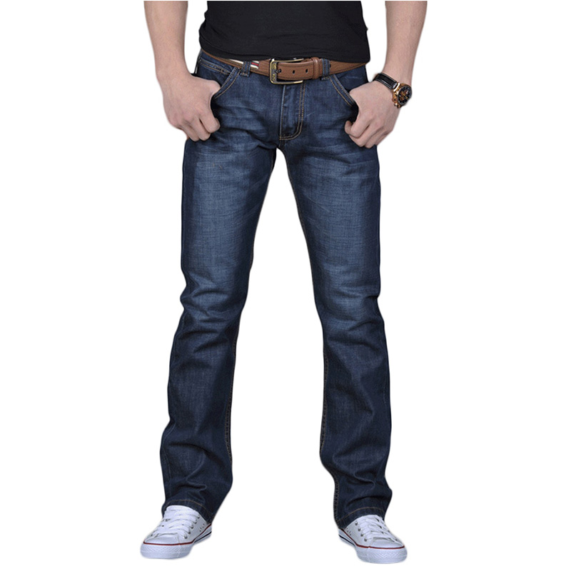 2019 Spring And Autumn Fashion Casual Fashion Designer Button Jeans Famous Straight Jeans Men's Micro-elastic Hollow Jeans