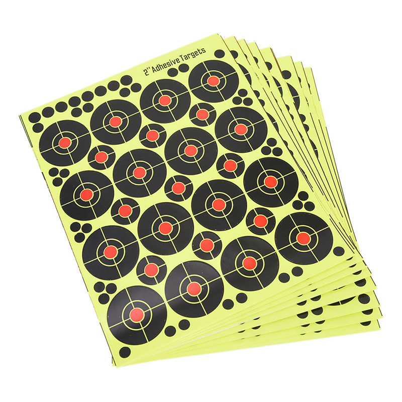 160pcs/10sheets Shooting Targets Splatter Glow Florescent Paper Target for Hunting Archery Arrow Training Shoot Accessories