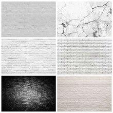 Laeacco – arrière-plan de photographie de Portrait d'enfants, mur de brique blanche, mur de ciment, fête prénatale, anniversaire, Studio