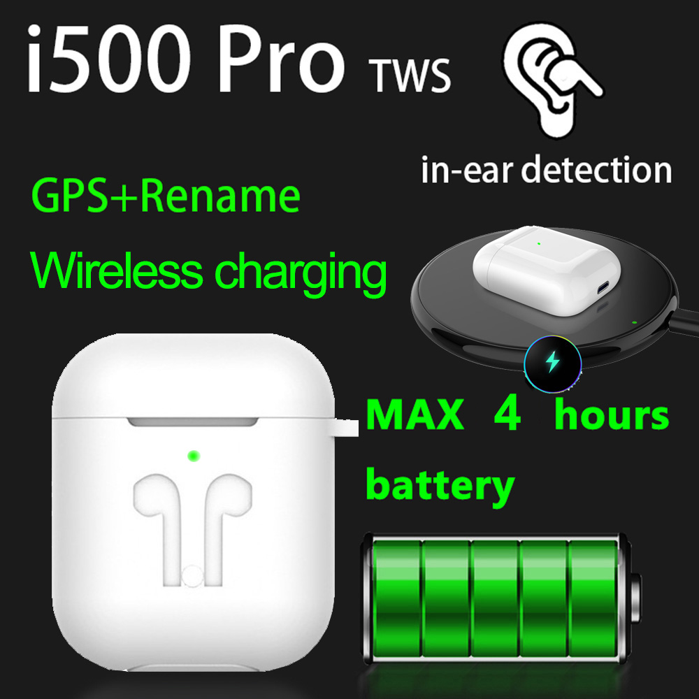 Original I500 Pro TWS 1:1 In-ear Blutooth Earphone Mini Wireless Sport Headsets Headphones Stereo Earbuds Elari PK Aire 2 3