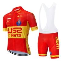 Nowy 2020 czerwony WS2 FC cyling koszulka drużynowa 20D spodnie rowerowe garnitur mężczyzna lato szybkie pranie pro BICYCLING koszule Maillot Culotte wear w Zestawy rowerowe od Sport i rozrywka na