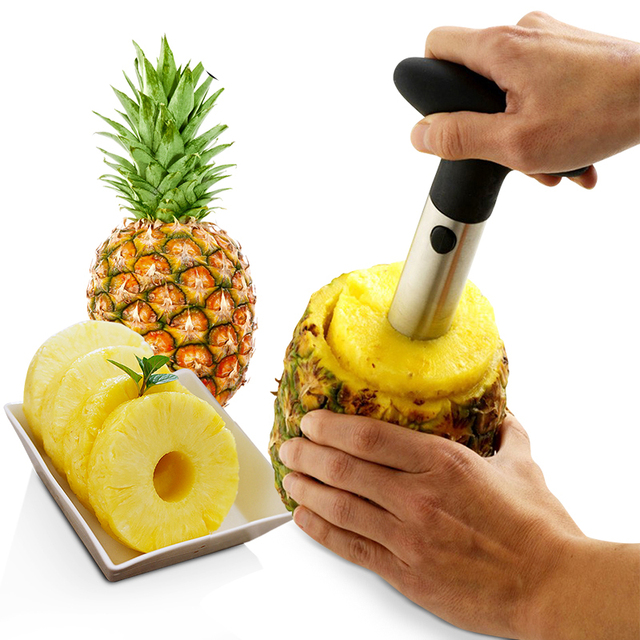 1Pcs Stainless Steel Easy to use Pineapple Peeler Accessories Pineapple Slicers Fruit Knife Cutter Corer Slicer Kitchen Tools 1