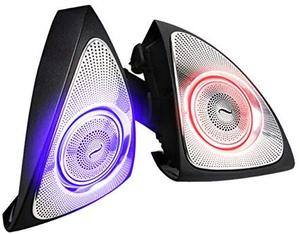 Image 2 - Car Interior 3 Colors Led Ambient Light 3D Rotary Tweeter Speaker for C Class W205 C180,C200 C250 C300,C350(W205)
