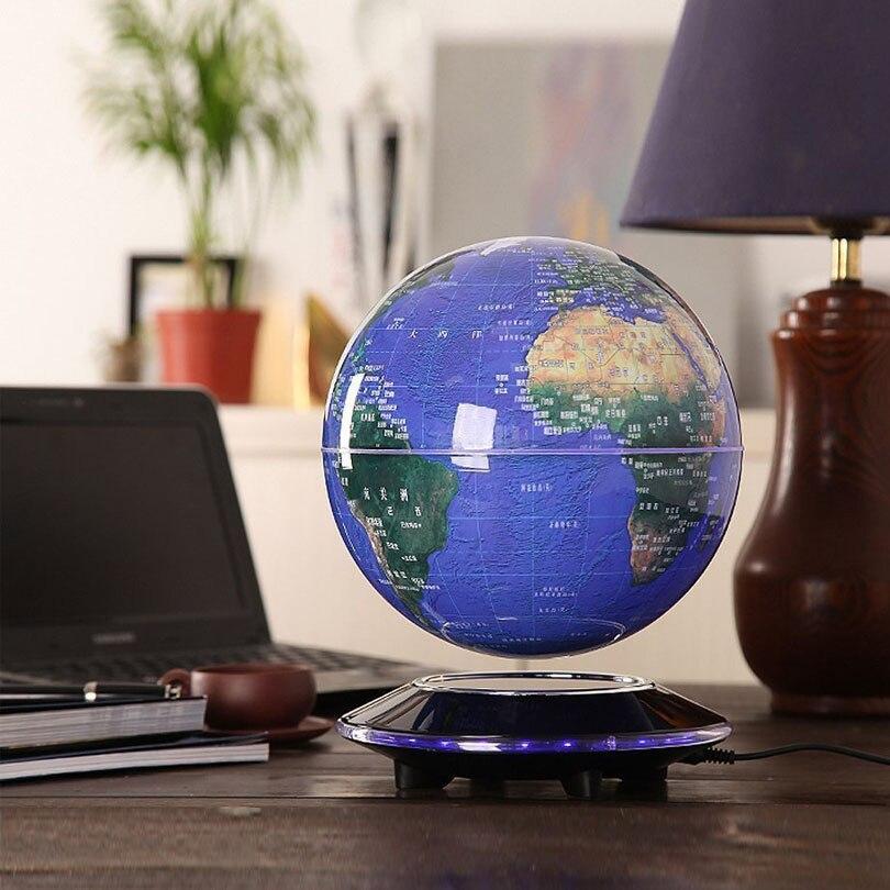 Плавающий глобус светодиодный 3d ночник магнитной левитации карта мира ребенок Рождественский подарок офис книжный шкаф спальня дома теллурион Декор лампы - 5