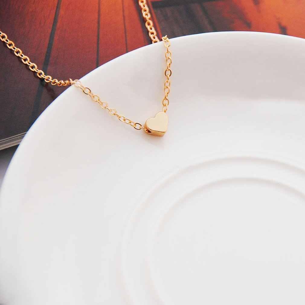 Novo simples coração corrente colar moda jóias para feminino gargantilhas acessórios namorada festa de aniversário presente