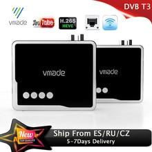 Vmade 2020 hd 1080p receptor terrestre dvb t2 decodificador h.265 com rj45 DVB T2 tv tuner suporte wifi youtube dvb t2 conjunto caixa superior