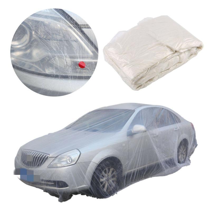 Cubierta de coche impermeable transparente a prueba de polvo anticontaminación cubiertas de coche desechables M + L + XL tamaño completo cubierta de coche para BWM VM HONDA
