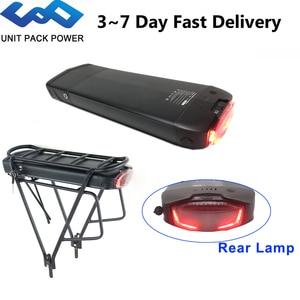 Image 1 - 36v 13ah 17.5ah samsung bateria ebike elétrica da cremalheira traseira da pilha do li íon com lanterna traseira para 8fun tsdz2 250w 350w 500w motor da bicicleta