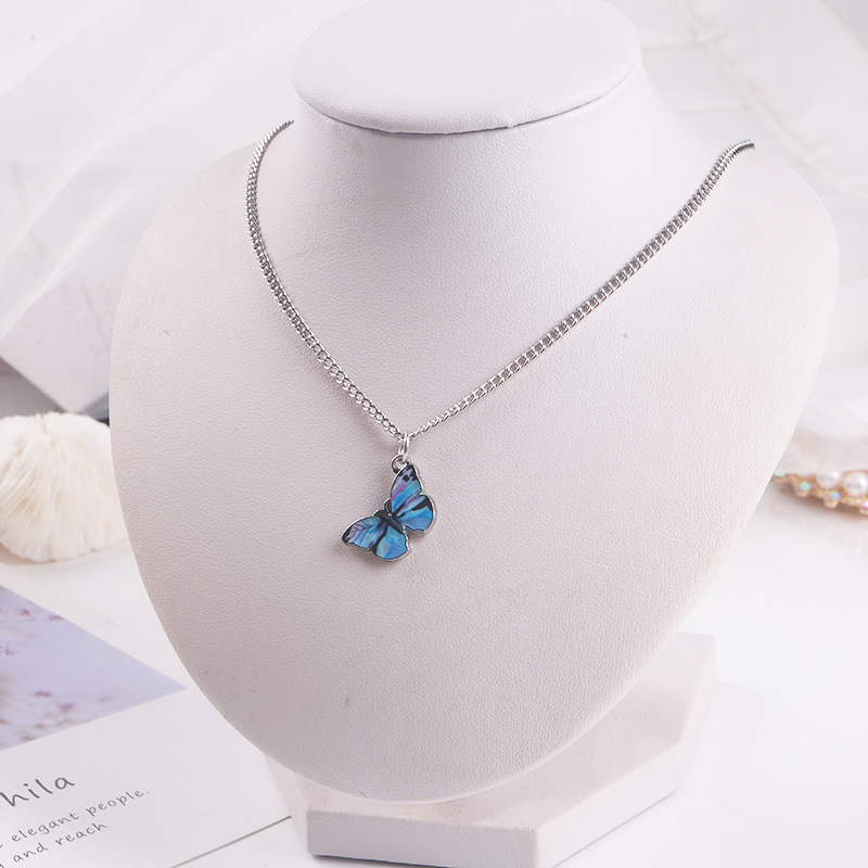 Pink Blue Necklace