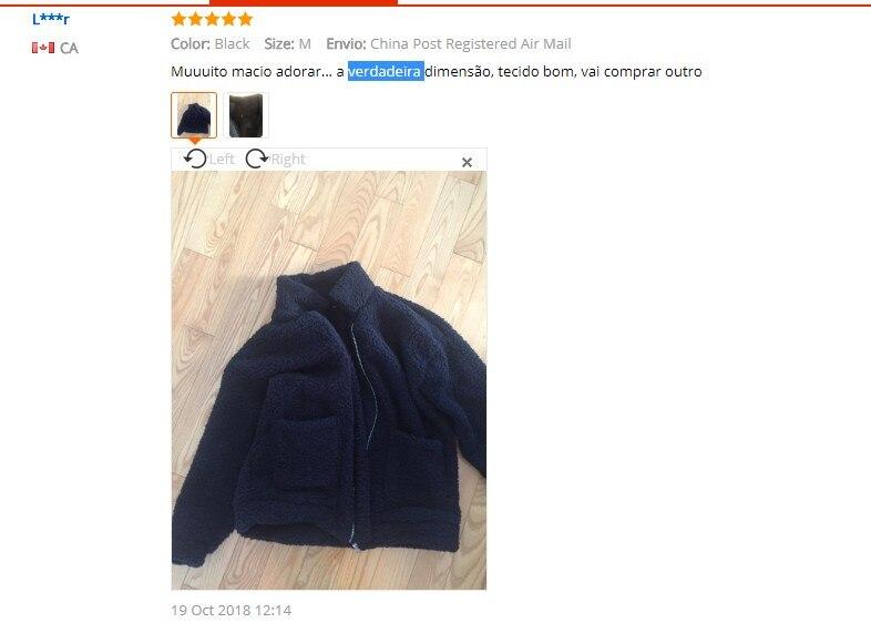 Elegant Faux Fur Coat Women 18 Autumn Winter Warm Soft Zipper Fur Jacket Female Plush Overcoat Pocket Casual Teddy Outwear 4